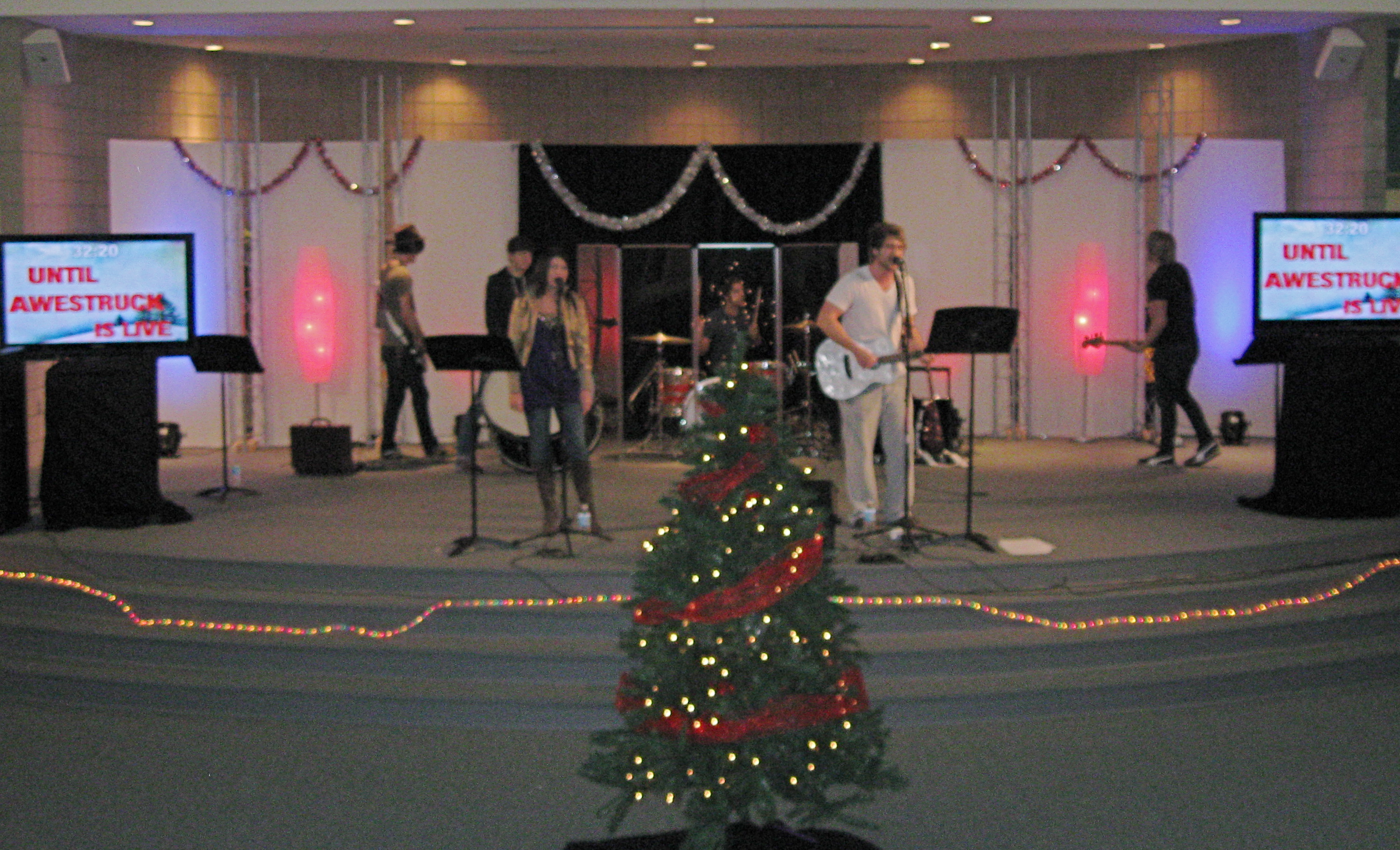 Small Church Stage Design Ideas And Hid Their Small Leds Behind